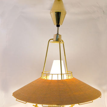 Midcentury Moe Lighting Cordette Pulldown Pendant - Vintage 1950s/60s - Used as Display