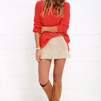 BB Dakota Susanna Coral Red Sweater