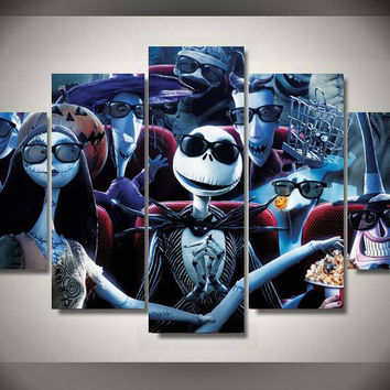 Nightmare Before Christmas - Cinema 5 Piece Canvas LIMITED EDITION