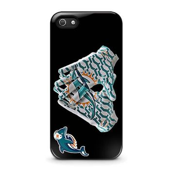 miami dolphins football iphone 5 5s se case cover  number 1