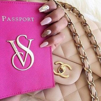 Victoria's secret Passport packages Documents package Passport holder Red B
