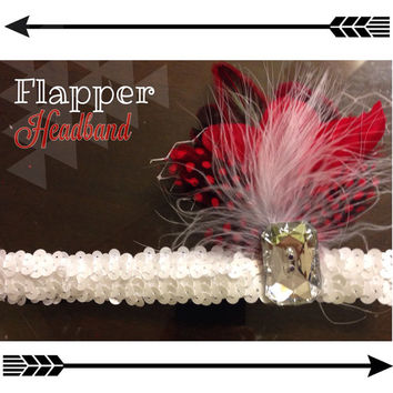 Flapper headband flapper girl headband  by TeenyItsyBitsy on Etsy