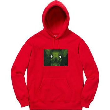SUPREME Chris Cunningham Chihuahua Hooded Sweatshirt - RED