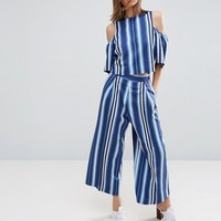 ASOS Stripe Culotte Co-ord at asos.com