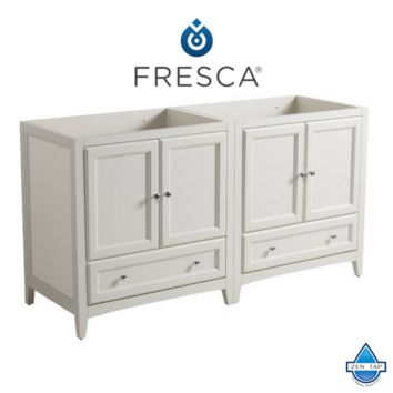 "Fresca Oxford 59""-60"" Traditional Double Sink Bathroom Cabinets"