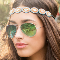 Lola Green Mirrored Aviator Sunglasses