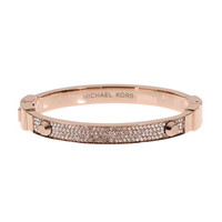 Michael Kors Pave Hinge Bangle, Rose Golden