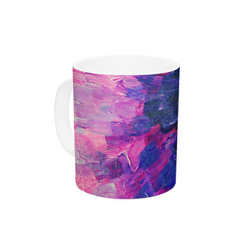 "Ebi Emporium ""Limitless"" Pink Purple Ceramic Coffee Mug"