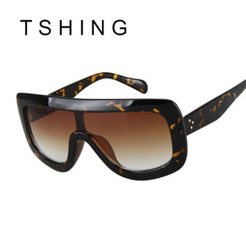 TSHING 2017 New Women Sunglasses Fashion Vintage Unique Oversized Sun Glasses Shades Gradient For Female Oculos UV400