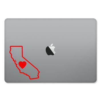 California Love Outlined Sticker for MacBooks and Apple Devices