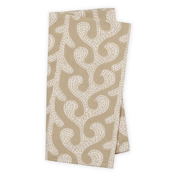 Modern Vine Dinner Napkins, Oat, Set of 4, Dinner Napkins