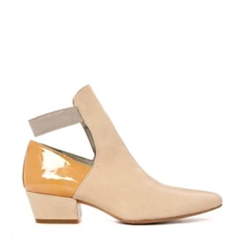 Wood Wood Nude Charlot Cut Out Ankle Boots - Nude mix