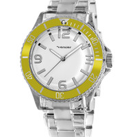 Women's Clear & Yellow Watch