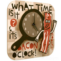 BACON O'CLOCK CLOCK