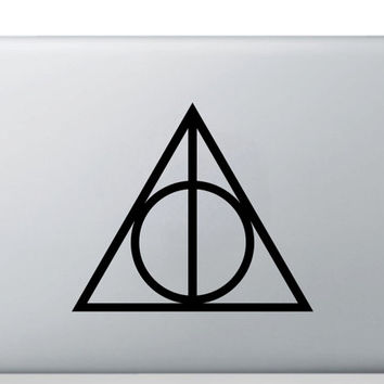 Harry Potter The Deathly Hallows - Laptop Sticker Window Sticker Bumper Sticker MacBook Sticker