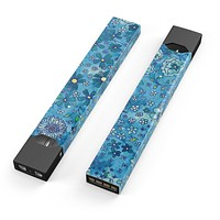 Skin Decal Kit for the Pax JUUL - Floral Pattern on Blue Watercolor