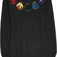 Markus Lupfer Bauble sequined merino wool sweater