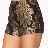 Standout High-Waist Baroque Shorts