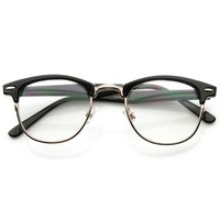 zeroUV - Optical Quality Horned Rim Clear Lens RX'able Half Frame Horn Rimmed Glasses