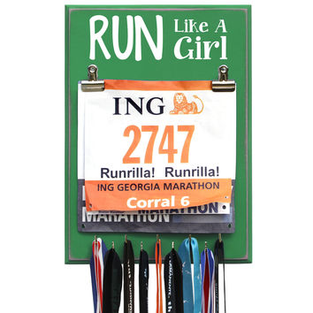 RUN Like A Girl - Medal Hanger
