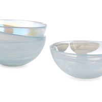 Marble Ink Bowls, Pearl, Set of 4, Serving Bowls