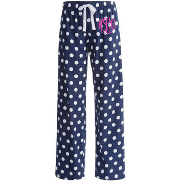 Shop Monogrammed Pajama Pants On Wanelo