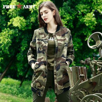Stylish short Trench Camouflage Overcoat