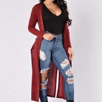 Moonstruck Duster - Burgundy