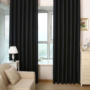 1 PC Virginia Blackout weave Grommet Curtain Panels (Set of 2) Window Living Room Bedroom Curtain Curtains for Living on Hooks