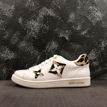 Louis Vuitton Lv Frontrow Sneaker With A Bold Leopard Print - Best Online Sale