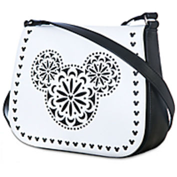 e4958ccc0b Mickey Mouse Icon Laser Cut Crossbody Bag from DISNEY STORE