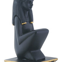 Maat Kneeling on Pedestal Egyptian Goddess of Law Statue 6H
