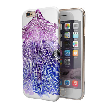 Stenciled Watercolor Evergreen Tree 2-Piece Hybrid INK-Fuzed Case for the iPhone 6/6s or 6/6s Plus
