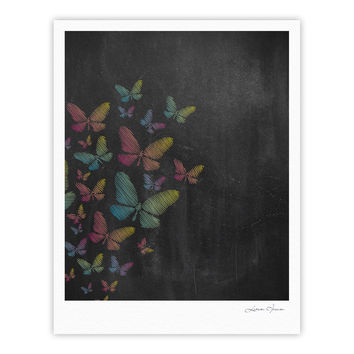 "Snap Studio ""Butterflies"" Pastel Chalk Fine Art Gallery Print"