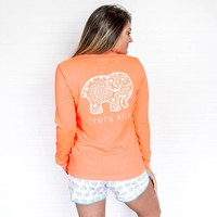 Perfect Fit Neon Coral Sketchy Mandala Tee