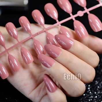 Shiny Deep Rose Red False Nail Tips Point Medium Stiletto Arylic Nails Makeup Accessories Salon Design Kit 231P