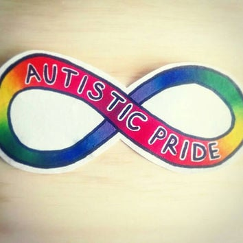 Autistic Pride: self advocacy large vest or jacket patch