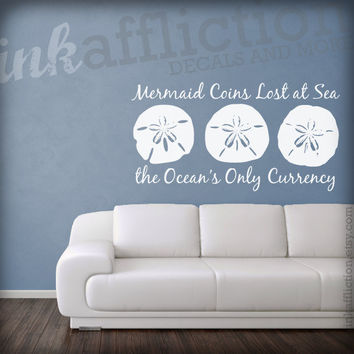 Sand Dollar Quote Wall Decal LARGE 36 x 19 by inkaffliction