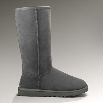 LFMON UGG 5815 Classic Tall Women Men Fashion Casual Wool Winter Snow Boots Grey