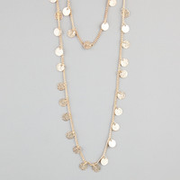 FULL TILT 2 Row Diamond Dust Disc Necklace 228875621 | Necklaces
