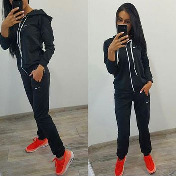Nike Casual Long Sleeve Shirt Sweater Pants Sweatpants Set Two-Piece Sportswear