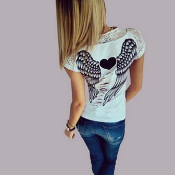 Hollow Angel Wings T-shirt