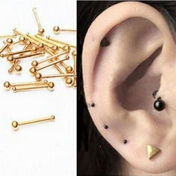 ac PEAPO2Q 2pcs 18G nose rings Super Mini Titanium Flower Star Surgical Steel Tiny Ear Cartilage Wrap Ring Tragus Earring Piercing Jewelry