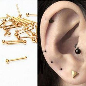 ac ICIKO2Q 2pcs 18G nose rings Super Mini Titanium Flower Star Surgical Steel Tiny Ear Cartilage Wrap Ring Tragus Earring Piercing Jewelry
