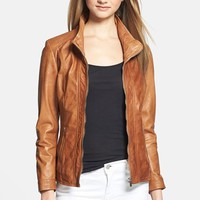 Women's LaMarque 'Lena' Leather Biker Jacket,