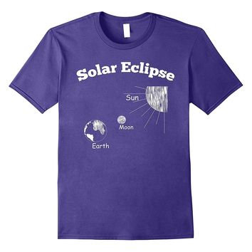 Solar Eclipse Sun Moon Earth Graphic T-Shirt