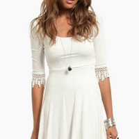 Crochet and Flare Dress $30