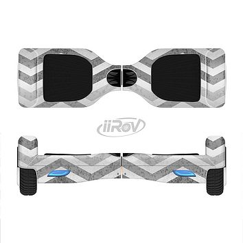 The Gray Toned Wide Vintage Chevron Pattern Full-Body Skin Set for the Smart Drifting SuperCharged iiRov HoverBoard
