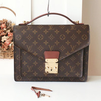 Louis Vuitton Bag Monceau Monogram Vintage Handbag