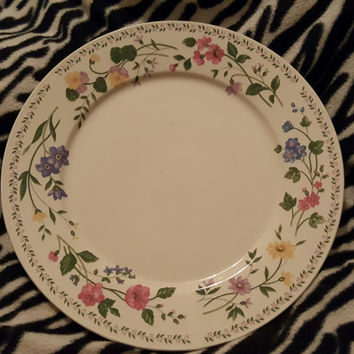 Lovely Vintage Farberware Stoneware Platter Chop Plate Pattern English Garden